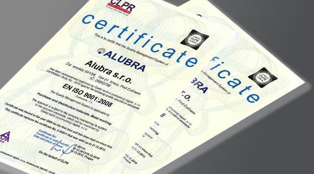 Alubra certification